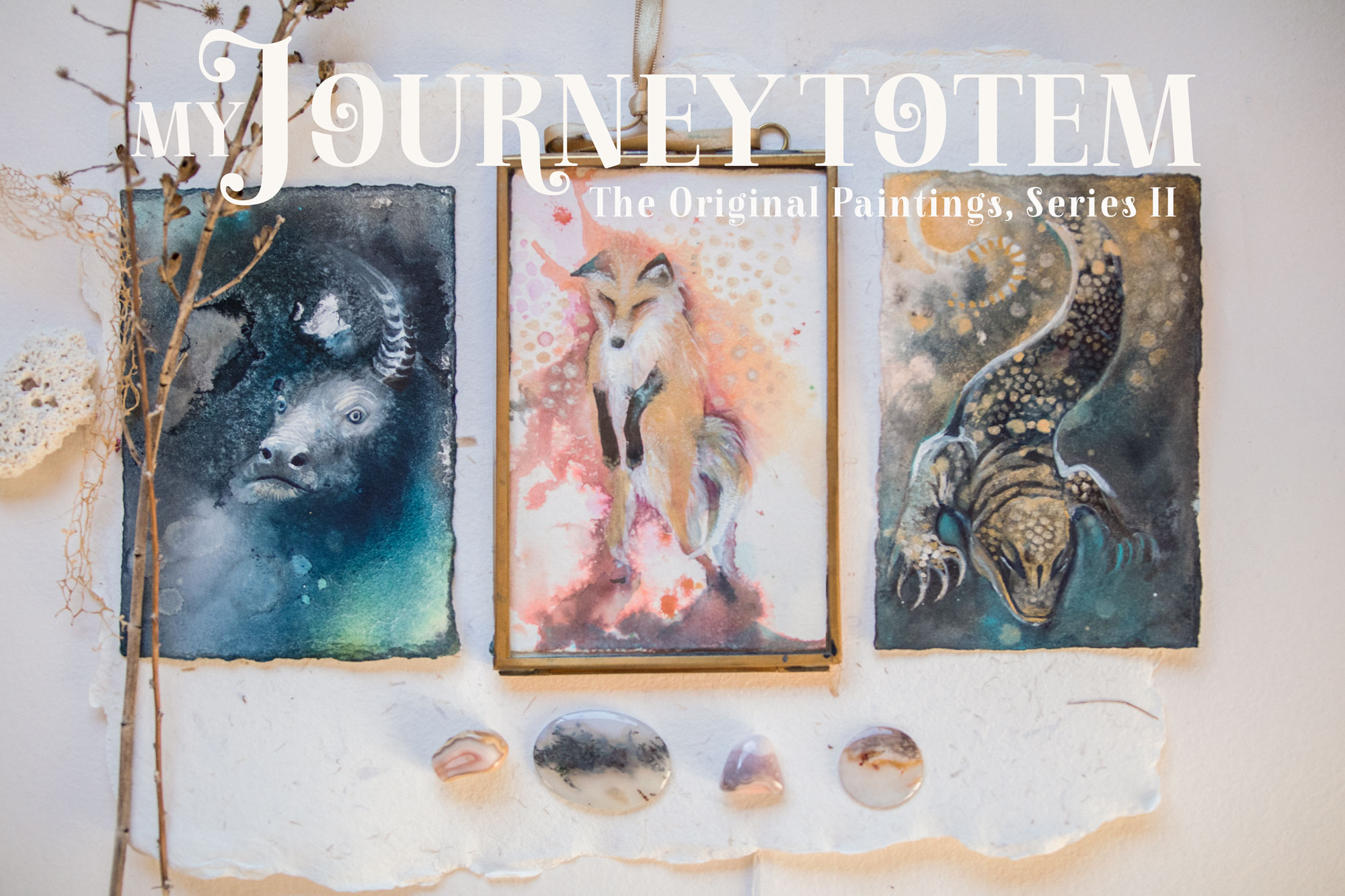My Journey Totem Original Paintings Series II